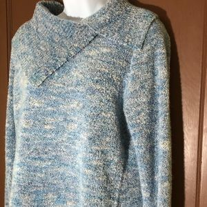 Studio Works size L fold over collar sweater